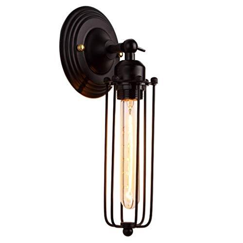 Appliques Murales Design Industriel Appliques Fil Cage E27 Rétro Vintage Métal Fer Luminaire Edison Intérieur Décoratif Éclairage Direct pour Lampe de Chevet Couloir Balcon Bar Ø10 * 32 CM Max.40W