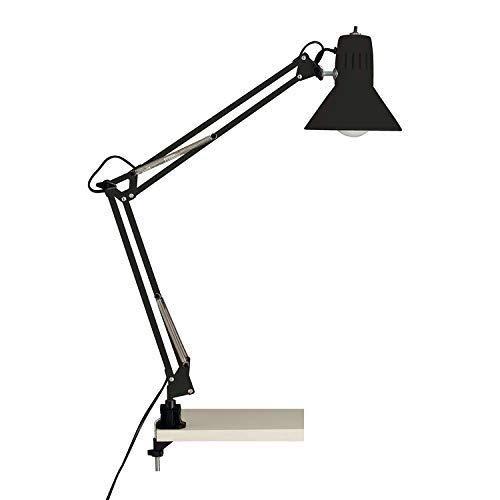 Brilliant Hobby 10802/06 - Lampada da tavolo, con fissaggio a molletta, colore: Nero, metallo