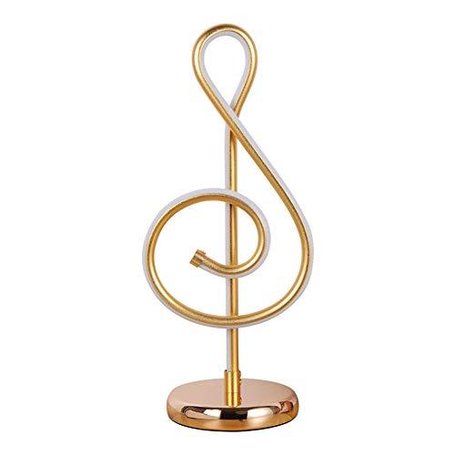 YAYONG Musical Symbol Tischlampe Kreative Augenschutz-Schreibtisch Führte Zu Hause Modernes Schlafzimmer Gold,Dimming