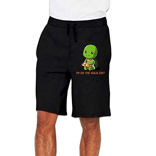 Charles Hernandez Herren Turtles I'm On The-Ninja-Diet Workout Gym Shorts Classic Fit Cargo Shorts mit Taschen Gr. XXL, Schwarz