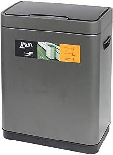 JAVA Vegas センサービン ステンレス ゴミ箱 モーションセンサー搭載 インナーボックス付き 20L (30リットルゴミ袋対応) チタニウムグレー (選べる4色)