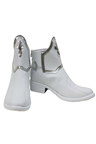 Telacos Sao Sword Art Online Anime Asuna Yuuki Cosplay Zapatos Botas de Color Blanco Custom Made