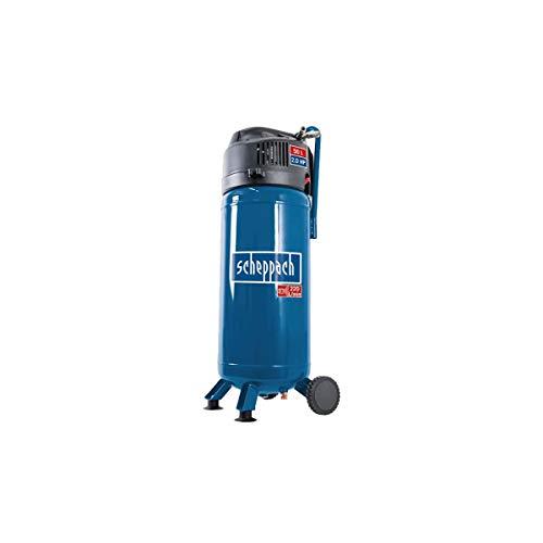 Scheppach Kompressor HC51V (97 dB, 50 L, 10 bar, Ansaugleistung 220L/min, Druckminderer, ölfrei, 1500 Watt)