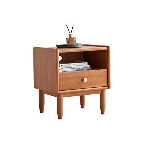 TXXM Nachttisch Schlafzimmer Spind, Schlafzimmer Nachttisch, Wohnzimmer Locker, Wohnzimmer Sofa Seitenschrank (Color : Wood Color)
