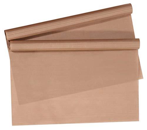 MIK Funshopping - Juego de 2 láminas para hornear (40 x 33 cm, reutilizables, fáciles de cortar, aptas para lavavajillas, resistentes al calor), color marrón