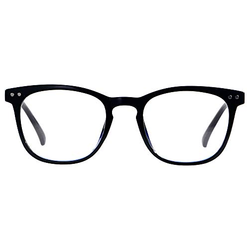 Blue Light Blocking Glasses Women Men Computer Reading Clear Bluelight Blocker Eyeglasses Frame Square Black ANDWOOD