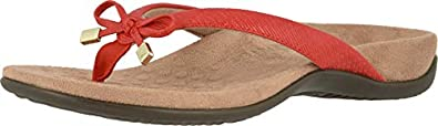 Vionic Women's, Bella II Thong Sandal Cherry RED