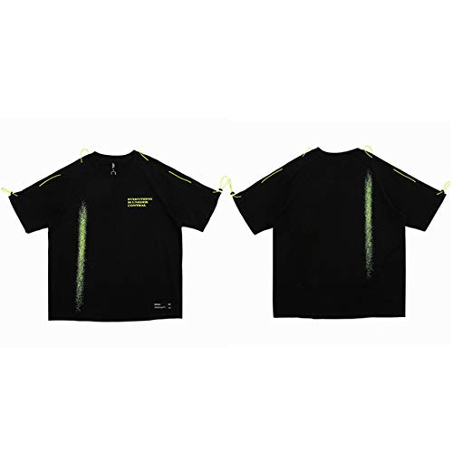 GVDFSEYL Hip Hop T-shirt Streetwear heren druksproeier Harajuku T-shirt knoop mode katoen korte mouwen T-shirt