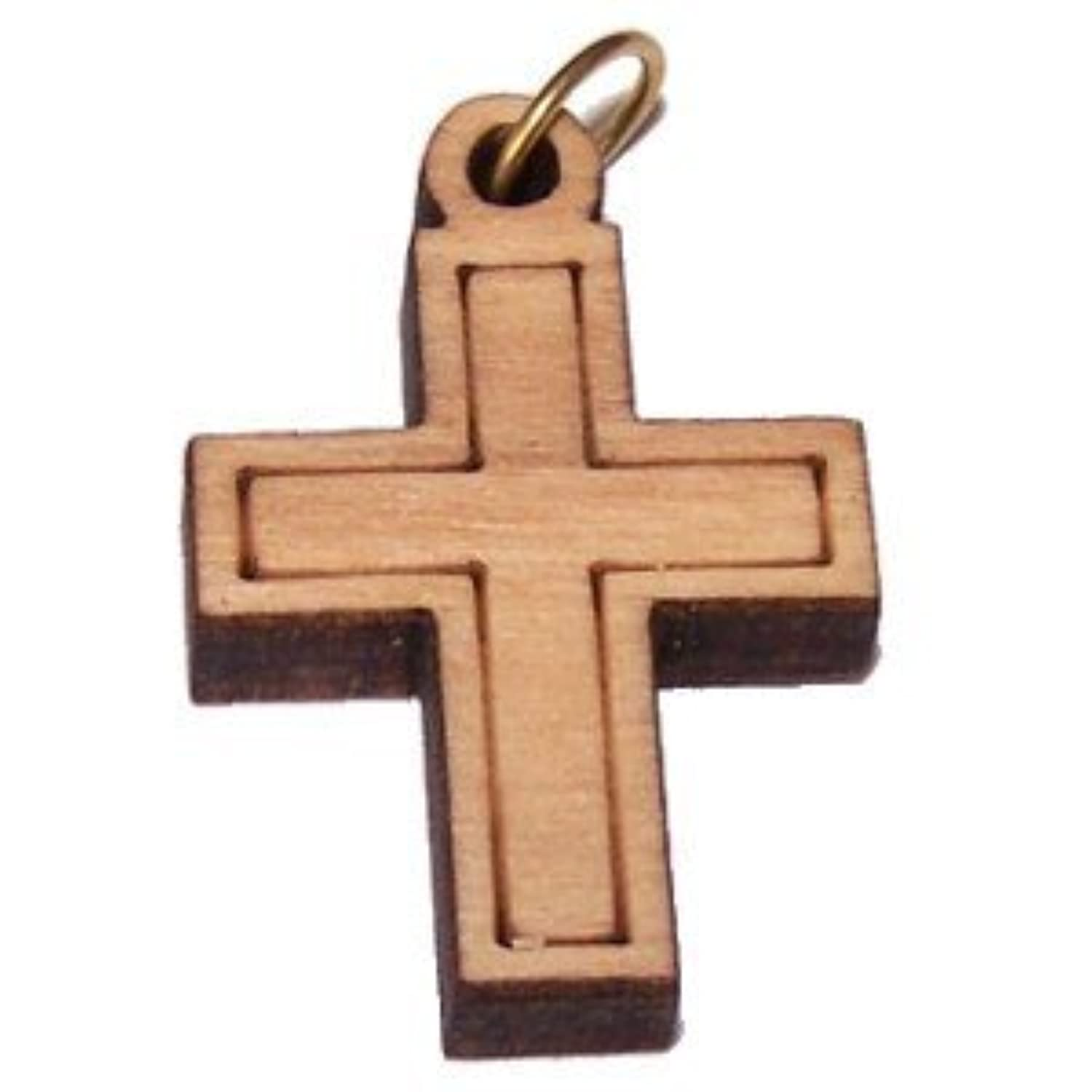 Olive wood Latin Cross Laser Pendant (8cm or 3.15