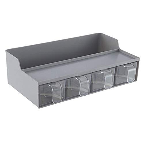 MLJ Estante de Almacenamiento de Especias Extraíble para Cocina Y Baño, para Condimentos/Alimentos Enlatados - 2 Niveles