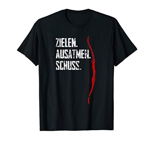 Bogenschießen Design - Zielen Ausatmen Schuss Blankbogen T-Shirt