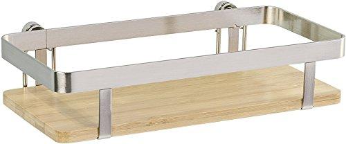 Wenko Universalregal Premium - Küchen-Ablage, Küchenregal, 25 x 5,5 x 12 cm, silber matt