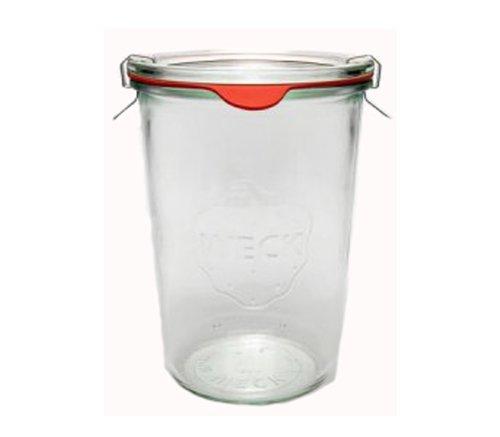 12 Weck Gläser 3/4 850 ml Sturzgläser Einmachgläser Weckgläser / inkl Einkochringe Klammern Glasdeckel