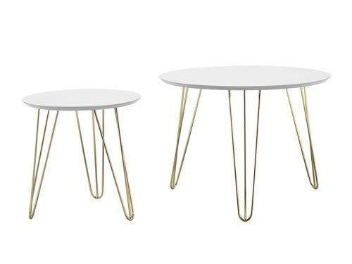 Leitmotiv Sparks tafel, staal, wit, eenheidsmaat