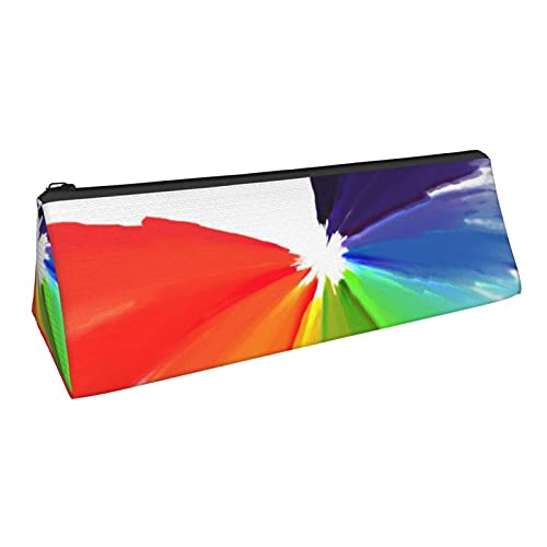 Estuche de lápices triangular con textura de fondo de acuarela con cremallera Oxford tela multifuncional bolsa de almacenamiento bolsa de cosméticos