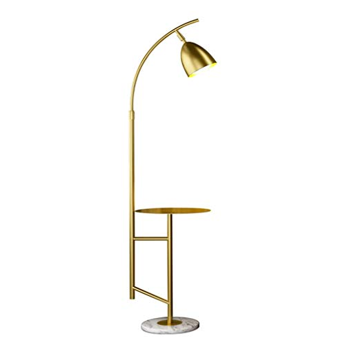 Lampes de chevet Lampadaire Salon Canapé Chambre Simple Américain Moderne Table Basse Marbre Vertical Lampe De Table (Color : Gold, Size : 30 * 163cm)