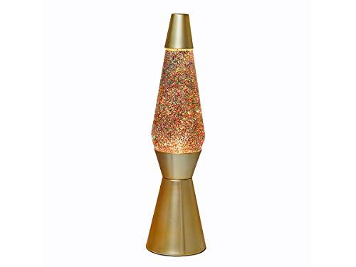 I-Total - Flüssige und farbige Lavalampe (Goldfarben Glitzernd)