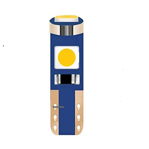 MXQ CJXIN 1 unids T5 W1.2W W3W 74 86 206 Super Bright 3 SMD 3030 LED Coche Luz Auto Light Wedge Wedge Dashboard Gauge Bulbo de la lámpara (Emitting Color : Blue)