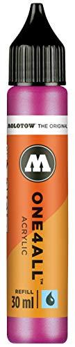 Molotow mo693225Refill one4all, recarga para marcador permanente 30ml 1pieza metálico rosa