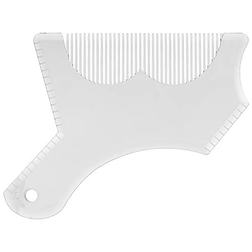 Modèle de coupe de barbe, outil de façonnage de barbe parfaitement équilibré pour Studio pour la vie pour les voyages pour la maison(transparent)