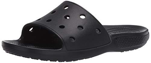 Crocs Classic Slide, Sandalias de Punta Descubierta Unisex Adulto, Negro (Black 001), 43/44 EU