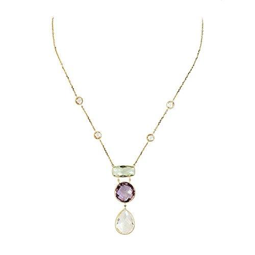 JewelryWeb  -  Gold 14 Karat (585)  14 Karat (585) Gelbgold Rundschliff   pink/rosa Améthyste