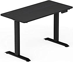 cheap SHW electric computer desk, height adjustable, 48 x 24 inches, black