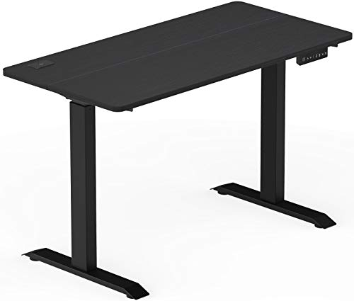 SHW Electric Memory Preset Height Adjustable Computer Desk, 48 x 24 Inches, Black