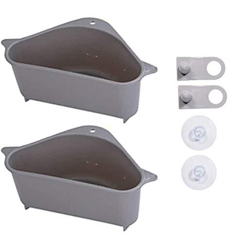 Colador de esquina para fregadero de cocina, filtro de desprendimiento triangular para colgar, estante con ventosa para cocina y baño