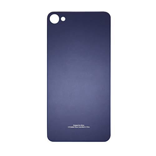 Wanaoshop For Meizu Meilan X batería de Cristal de la contraportada con Adhesivo (Negro) Zjjjdk (Color : Blue)