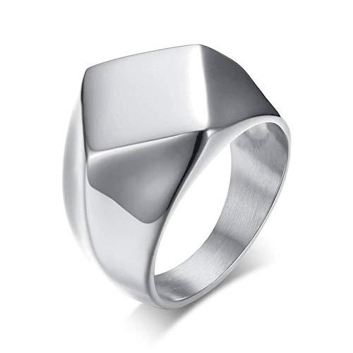 ERDING Fashion Cadeau/Punk Chunky Flat Rhombus Top Duim Ring Voor Mannen Fraternal Band RVS Retro Viking Mannelijke Sieraden Rock Hiphop Sieraden