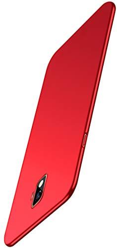XINFENGDI Carcasa de Movil para Samsung Galaxy j2 Core,Funda Protectora 360° Resistente,Capas Robustas Reforzada Duro,Carcasa Trasera Cubierta Forros Seguridad,Antideslizamiento Antigolpes-Rojo