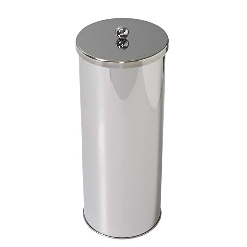 ZPC Zenith Products Corporation Zenna Home 7666ST, Toilet Paper Canister, Polished Stainless Steel