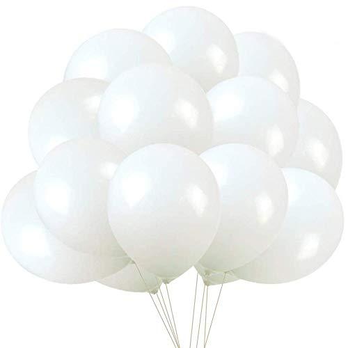 White Thicken PEerdere Ballonnen 100 Pack 12 Inch Witte Ballon voor Feestartikelen en Decoraties