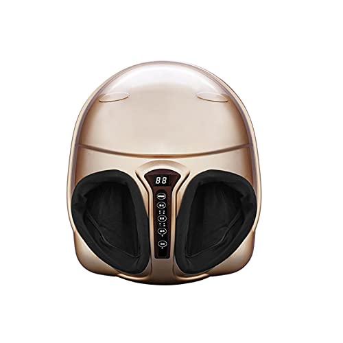 Duvets Foot Massager with Heat, Kneading and Reflexotherapy Massage,Electric Deep Kneading Massage Air Compression,Foot Circulation Massager Stimulator Device