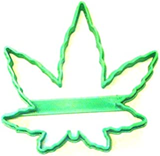 CANNABIS MARIJUANA HEMP FAN LEAF OUTLINE SPECIAL OCCASION COOKIE CUTTER BAKING TOOL 3D PRINTED MADE IN USA PR3041