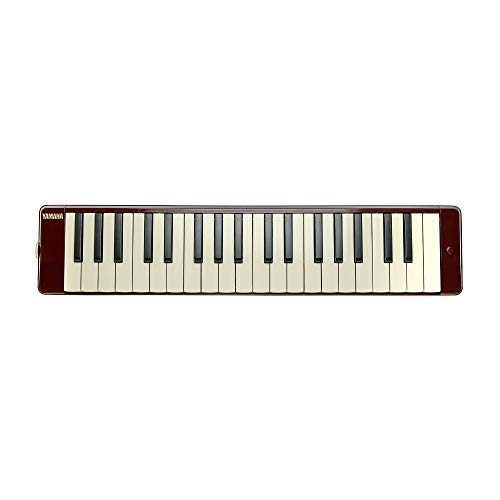 Yamaha Pianica 37 keys, 3 Octaves, from f to f3, weight: 790g, incl. mouthpiece, extension pipe set and carrying case, dark red