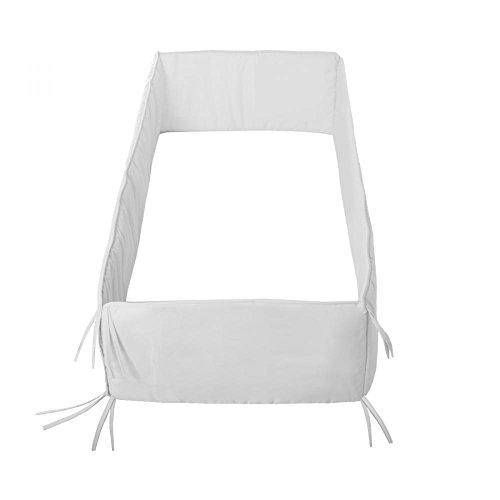 Cambrass Liso E - Protector de cuna, 420 x 30 cm, color blanco