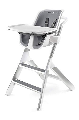 4moms high chair | For Baby, Infant, and Toddler | Magnetic, One-Handed Tray Attachment | from The Makers of The mamaRoo | White/Grey
