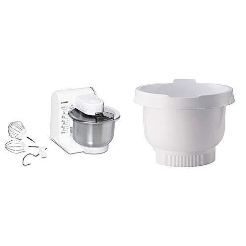 Bosch MUM4407 Küchenmaschine MUM4 (3.9 Liter) weiß & MUZ4KR3 Rührschüssel weiss