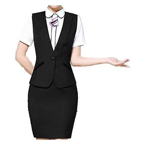 N\P Trajes para mujer con tops y faldas, ropa de trabajo y chaleco conjuntos de trabajo