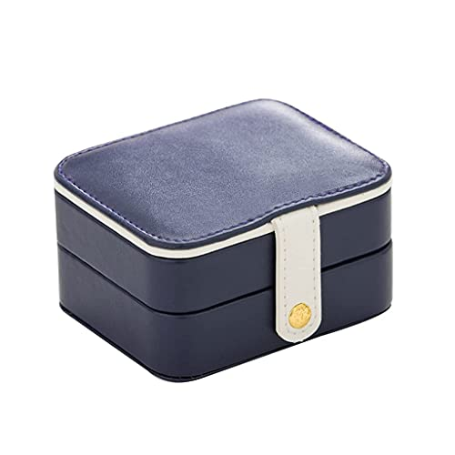 ZFFSC Exquisite jewelry box Portable Travel Multi-Layer Storage Box PU Jewelry Earrings Bracelets Ornaments Jewelry Box (Color : B) Exquisite jewelry box (Color : A)