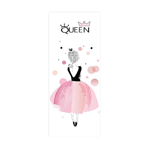 PVC Waterproof Door Sticker, Painted Girl Home Decoration Door Sticker, self-Adhesive Wall Sticker, Easy to Install, Environmentally Friendly and Durable