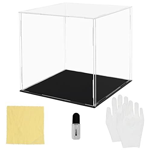 Belle Vous Vitrina Expositora de Acrílico Transparente # 15 x 15 x 15 cm -  Expositor Metacrilato Grande a Prueba de Polvo para Figuras de Acción,  Juguetes,  Mini figuras,  Coleccionables y Modelos