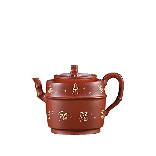 LPLHJD Teapot Teiera Famoso a Mano Ore Cemento Trasparente Tea Teapot Fuding (Color : Clear Cement)