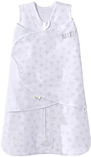 HALO 100% Cotton Sleepsack Swaddle Platinum Series, Pale Grey Twinkle, Small