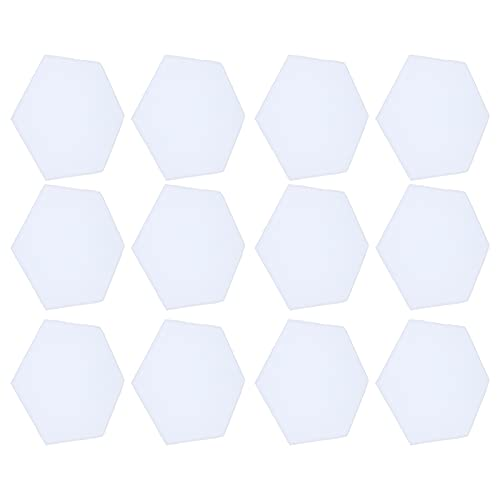 Juego de 12 paneles de espuma a prueba de sonido Paneles de espuma acústica hexagonal para Home Studio(blanco)