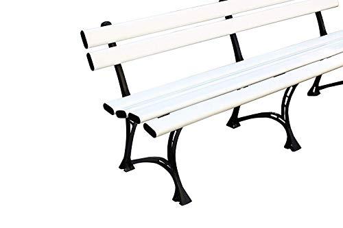 Sitzbank Kunststoff PVC Gartenbank Parkbank Außenbereich 200x75x45 cm, HARMONY