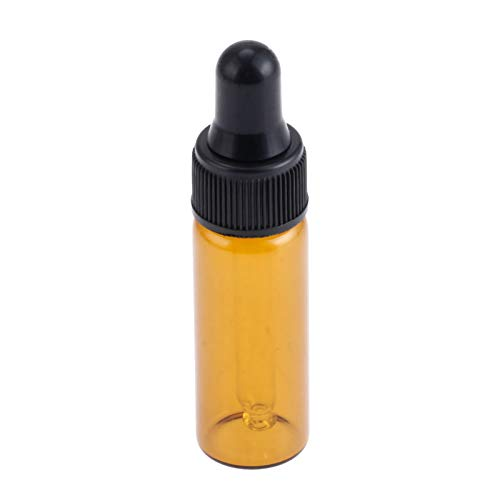 10 Stks 1 ml Amber Lege Glas Dropper Pipette Flesjes Essentiële Oliën Flessen 5ML Brown&Black