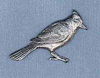 Blue Jay Pewter Lapel Pin Brooch - USA Made - Hand Crafted